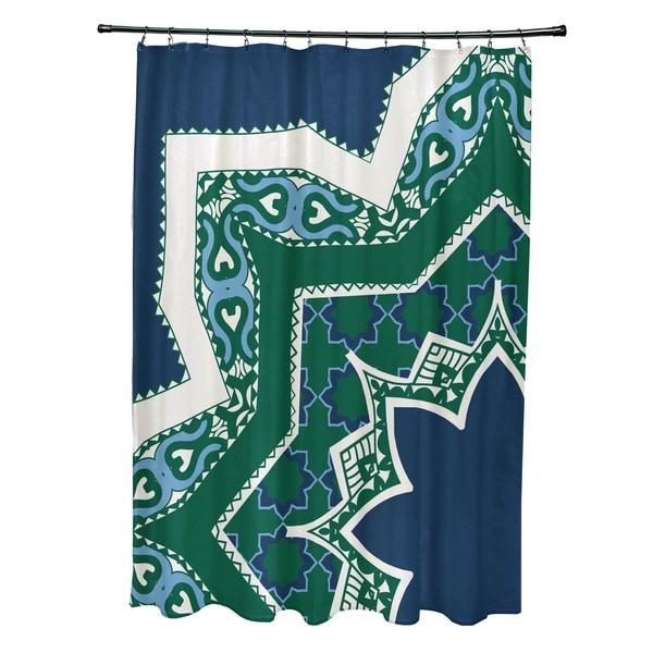 71 x 74-inch Rising Star Geometric Print Shower Curtain