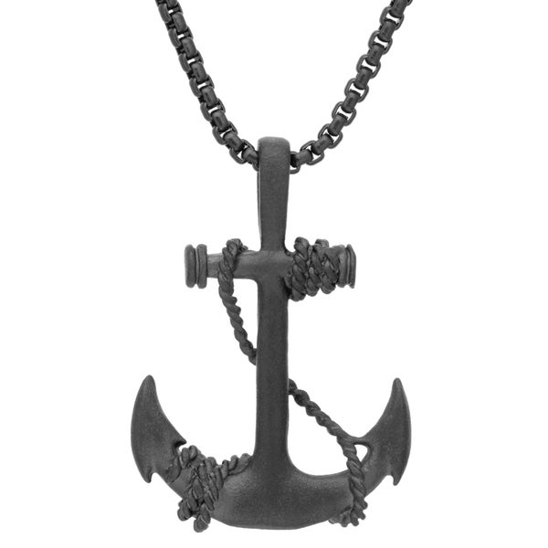 Shop Black-plated Stainless Steel Anchor And Winding Rope