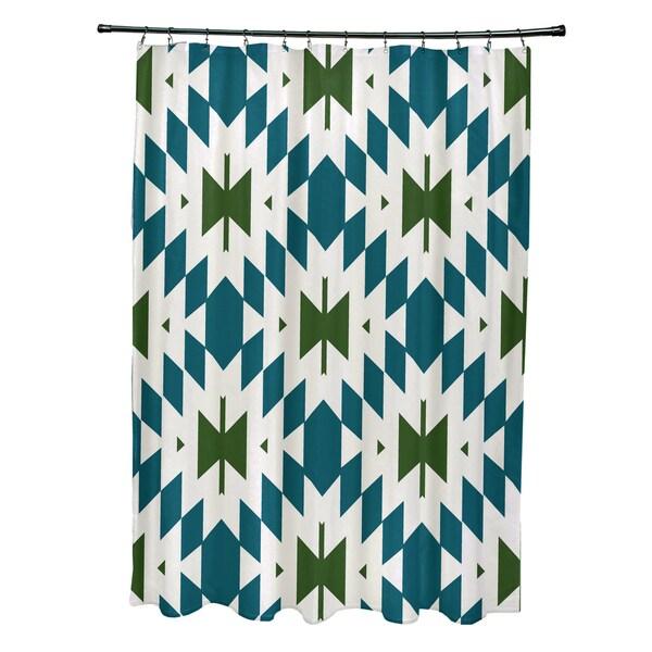 71 x 74-inch Patna Geometric Print Shower Curtain