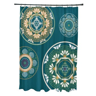 71 x 74-inch Medallions Geometric Print Shower Curtain