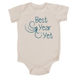 Rocket Bug 'Best Year Yet' Cotton Baby Bodysuit