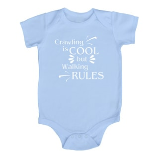 Rocket Bug 'Crawling is Cool but Walking Rules' Cotton Baby Bodysuit