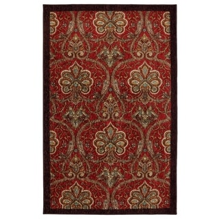 Mohawk Home New Wave Red Barossa Red Area Rug (5' x 7')