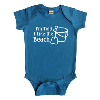 Rocket Bug 'I'm Told I Like the Beach' Cotton Baby Bodysuit
