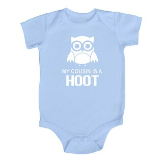 Rocket Bug 'My Cousin is a Hoot' Cotton Baby Bodysuit