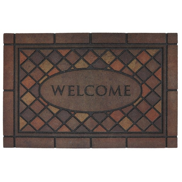 """Mohawk Home Doorscapes Estate Mosaic Spice Door Mat (1'11 x 2'11) - 1'11"""" x 2'11"""""""