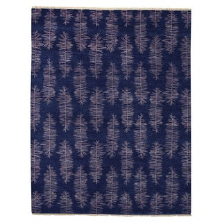 Hable Construction Frasier Navy Hand Knotted Rug (7' x 9')