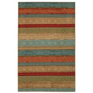 Mohawk Soho Samsun Batik Stripe Multi Area Rug (5' x 7') - 5' x 7'