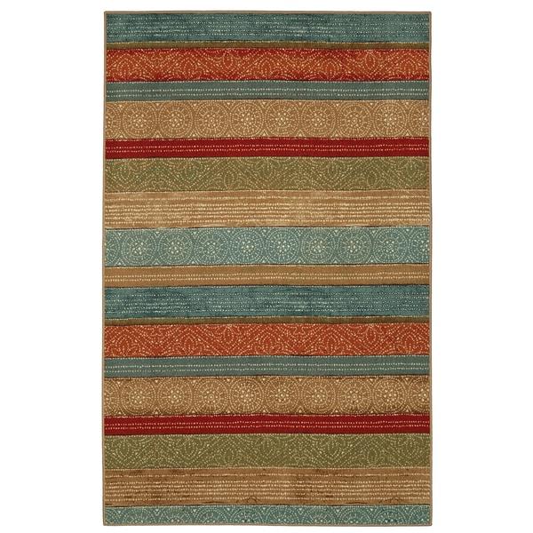 Mohawk Home Soho Samsun Batik Stripe Multi Area Rug 5 X