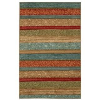 Mohawk Home Soho Samsun Batik Stripe Multi Area Rug (5' x 7')