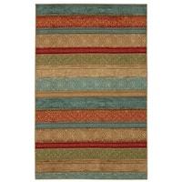 Mohawk Home Soho Samsun Batik Stripe Multi Area Rug (5' x 7') - 5' x  7'