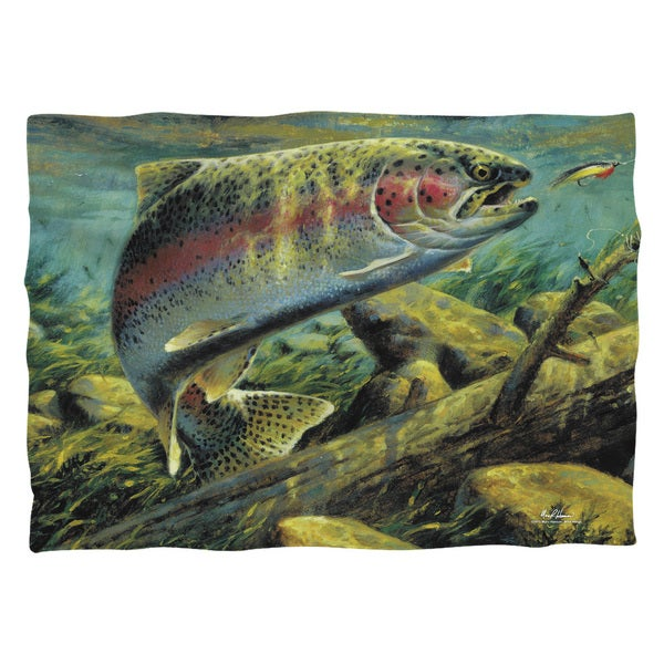Wild Wings/Rainbow Trout 2 (Front/Back Print)  Pillowcase