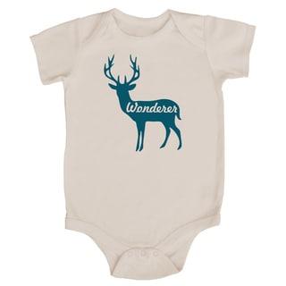 Rocket Bug 'Wonderer' Deer Cotton Baby Bodysuit