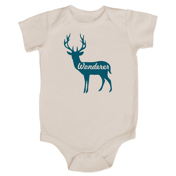 Rocket Bug 'Wonderer' Deer Cotton Baby Bodysuit