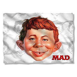 Mad/Alfred Head (Front/Back Print) Pillowcase