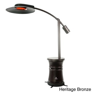 Lava Heat Italia Cantilever Commercial Dome Brown Stainless Steel Natural Gas Patio Heater
