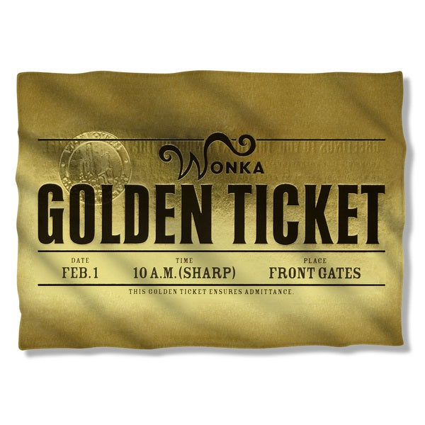 Charlie and The Chocolate Factory/Golden Ticket Pillowcase