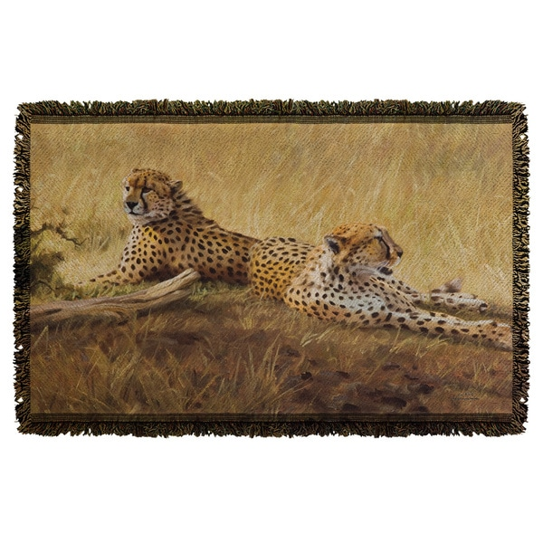 Wild Wings/African Cats 2 Graphic Woven Throw