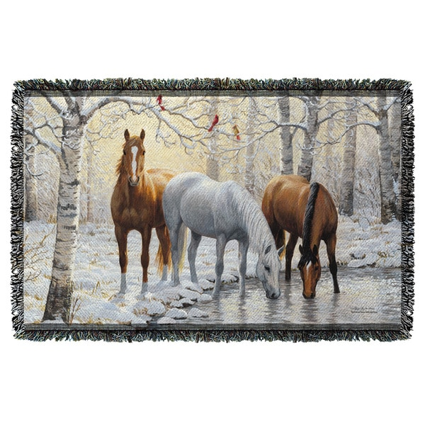 Wild Wings/Frosty Sunshine 2 Graphic Woven Throw