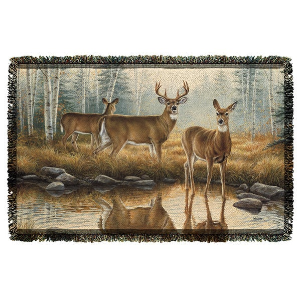 Wild Wings/Autumn Reflections 2 Graphic Woven Throw