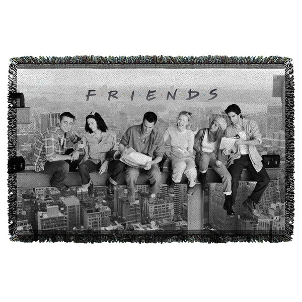 Friends/Break Time Graphic Woven Throw