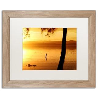 Beata Czyzowska Young 'Sunset Journey' Matted Framed Art