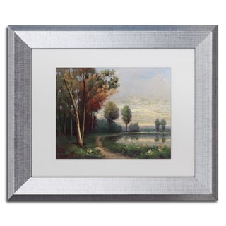 Daniel Moises 'Landscape with a Lake' Matted Framed Art