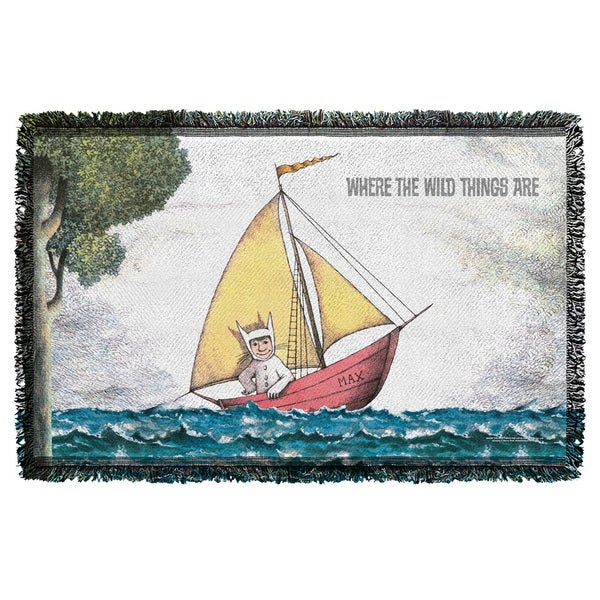 Where The Wild Things Are/Max'S Boat Graphic Woven Throw
