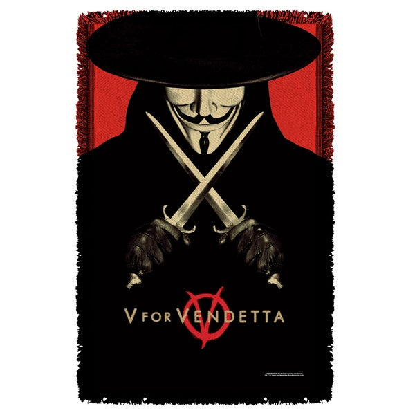 V For Vendetta/V Graphic Woven Throw