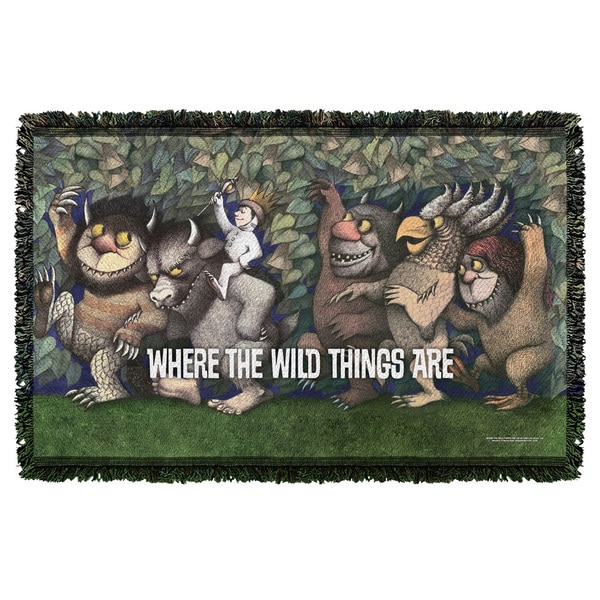 Where The Wild Things Are/Wild Rumpus Dance Graphic Woven Throw