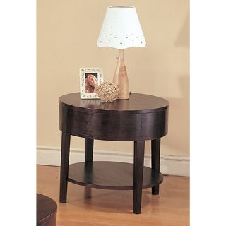 Coaster Company Cappuccino Round End Table