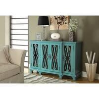Coaster Company 4-Door Wood and Glass Display Cabinet