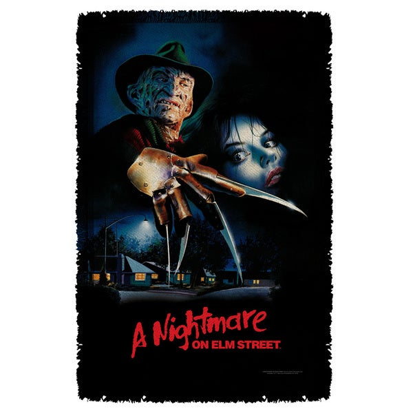 Nightmare On Elm Street/Freddy Poster Graphic Woven Throw
