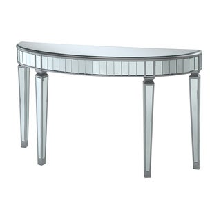 Coaster Company Mirrored Half-oval Console Table