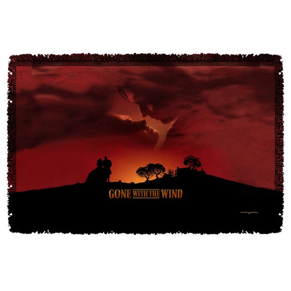 Gone With The Wind/Sunset Graphic Woven Throw