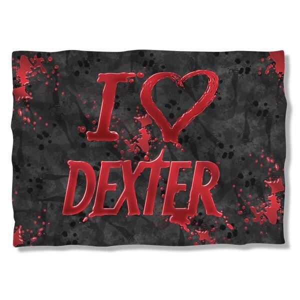 Dexter/I Heart Dexter (Front/Back Print)  Pillowcase