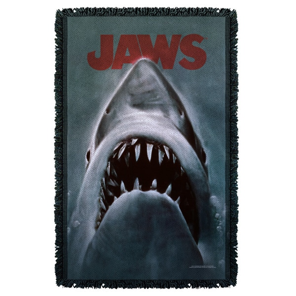 Jaws/Shark Graphic Woven Throw
