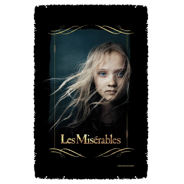 Les Miserables/Girl Graphic Woven Throw