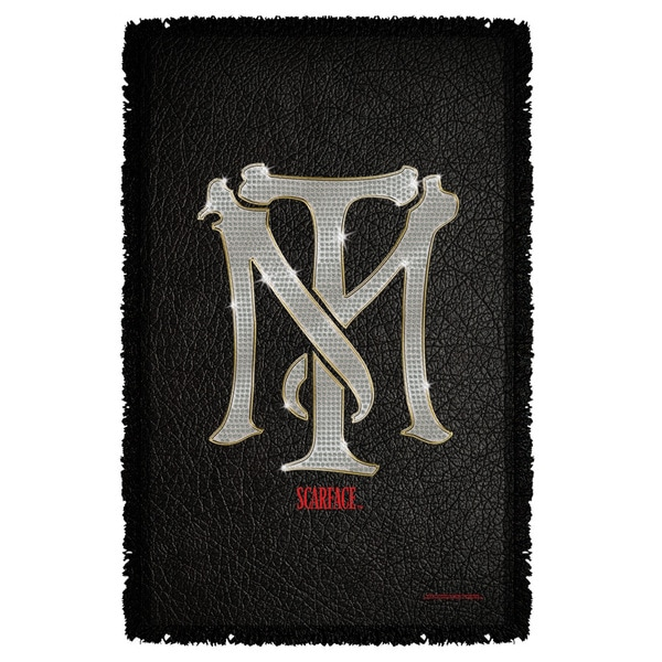Scarface/Monogram Graphic Woven Throw