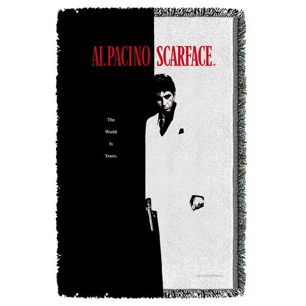 Scarface/Poster Graphic Woven Throw