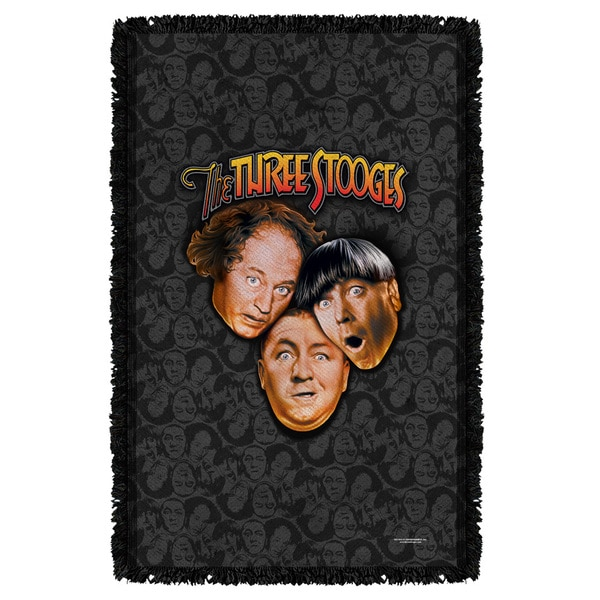Three Stooges/Stooges All Over Graphic Woven Throw