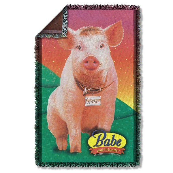 Babe/Sitting Pig Graphic Woven Throw