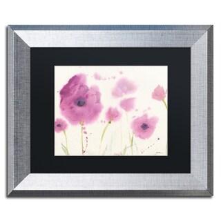 Sheila Golden 'Purple Poppies' Matted Framed Art