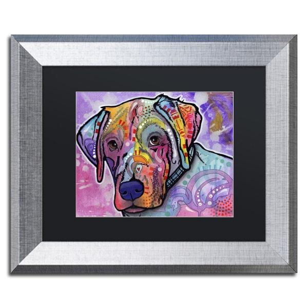 Dean Russo 'Petunia' Matted Framed Art
