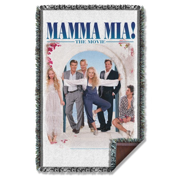 Mama Mia/Poster Graphic Woven Throw