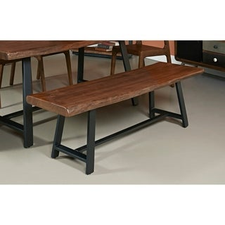 Somette Wood and Iron Dining Bench