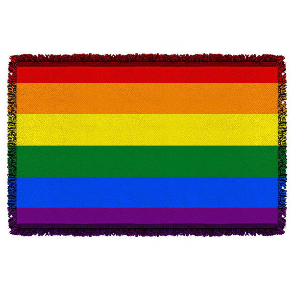 Pride Flag Graphic Woven Throw