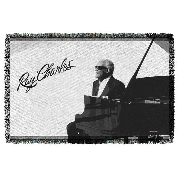 Ray Charles/Sunny Ray Graphic Woven Throw