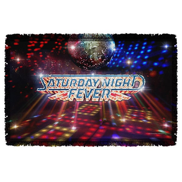 Saturday Night Fever/Dance Floor Graphic Woven Throw