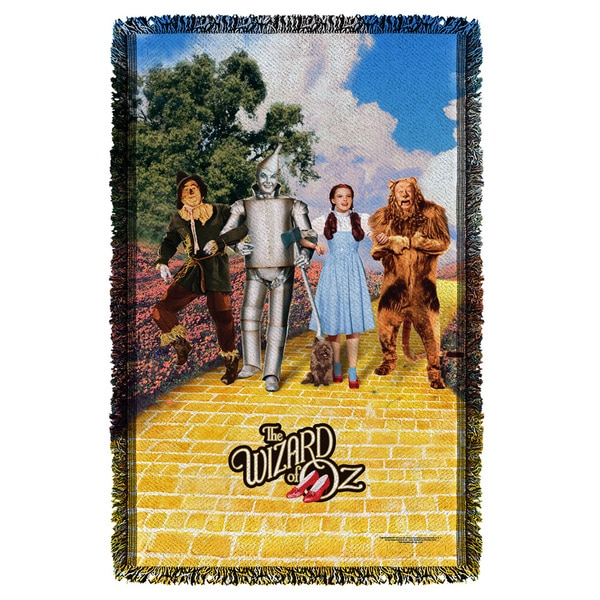 Wizard Of Oz/On The Road Graphic Woven Throw